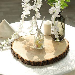 NWOT Large Wood Slices for Centerpieces – 5 Pack